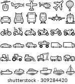 transport icon collection  ... | Shutterstock .eps vector #309284420