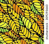 seamless pattern of autumn... | Shutterstock .eps vector #309293660