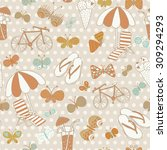 lovely seamless pattern with... | Shutterstock .eps vector #309294293