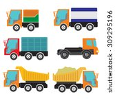 set of vector objects of the...   Shutterstock .eps vector #309295196