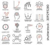 vector set of 16 icons related... | Shutterstock .eps vector #309295280