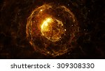 abstract particles background... | Shutterstock . vector #309308330