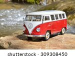 miniature vw bulli 1962 in the... | Shutterstock . vector #309308450