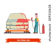 specialist spray painting auto...   Shutterstock .eps vector #309310628