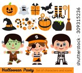 vector set of characters and... | Shutterstock .eps vector #309315236