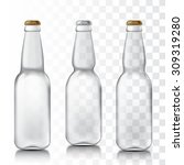 transparent glass beer bottles. ... | Shutterstock .eps vector #309319280