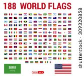 vector set of 188 world flags... | Shutterstock .eps vector #309320858