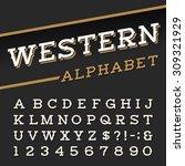 western style retro alphabet... | Shutterstock .eps vector #309321929