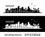 miami skyline   vector...