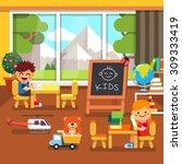 modern elite kindergarten... | Shutterstock .eps vector #309333419