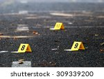 Crime Evidence Markers On...