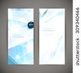 set of polygonal geometric... | Shutterstock .eps vector #309340466
