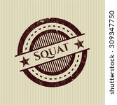 squat rubber grunge seal | Shutterstock .eps vector #309347750