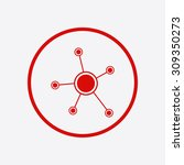 social network single icon.... | Shutterstock .eps vector #309350273