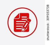 document icon. | Shutterstock .eps vector #309353738