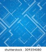 Vector Illustration Plan Blue...