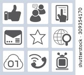 social media and network icons | Shutterstock .eps vector #309354170