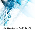 abstract blue background design.... | Shutterstock . vector #309354308