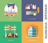 vector constructing  industry... | Shutterstock .eps vector #309355634