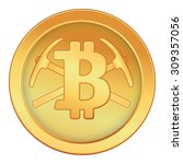 bitcoin | Shutterstock .eps vector #309357056