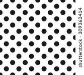 polka dot pattern  seamless... | Shutterstock .eps vector #309362414