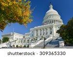 Stock photo united states capitol building in autumn washington dc usa 309365330