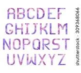 latin alphabet with triangular... | Shutterstock .eps vector #309368066