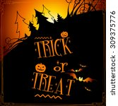 halloween background | Shutterstock .eps vector #309375776