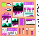 geometry corporate identity... | Shutterstock .eps vector #309377420