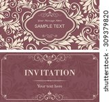 set of vintage invitation cards ... | Shutterstock .eps vector #309379820