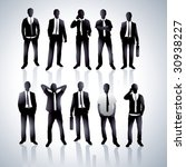 businessmen in a vector | Shutterstock .eps vector #30938227
