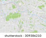 vector map of the city center... | Shutterstock .eps vector #309386210