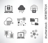 data analytics and network... | Shutterstock .eps vector #309387014