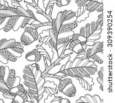 seamless pattern in doodle... | Shutterstock .eps vector #309390254