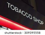 tobacco shop neon sign | Shutterstock . vector #309395558