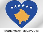 a flag illustration of a heart... | Shutterstock .eps vector #309397943