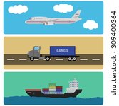 shipment and cargo infographics ... | Shutterstock .eps vector #309400364