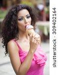 portrait of sexual pretty... | Shutterstock . vector #309402164