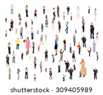 standing together united... | Shutterstock . vector #309405989