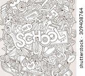 cartoon sketchy hand drawn... | Shutterstock .eps vector #309408764