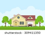picture of a private living... | Shutterstock .eps vector #309411350