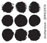 watercolor spots background.... | Shutterstock .eps vector #309413576
