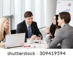 business people analyzing... | Shutterstock . vector #309419594