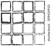 grunge frame texture set ....   Shutterstock .eps vector #309424910
