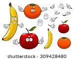 cartoon ripe juicy red apple ... | Shutterstock .eps vector #309428480