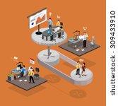 business infographics isometrics | Shutterstock .eps vector #309433910