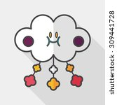 baby crib hanging toy flat icon ...   Shutterstock .eps vector #309441728