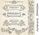 set of vintage detailed ornate... | Shutterstock .eps vector #309442064