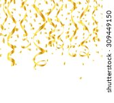 party golden confetti streamers.... | Shutterstock .eps vector #309449150
