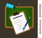 guidelines business guide... | Shutterstock .eps vector #309450284